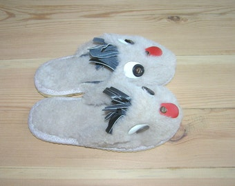 Kids Slippers Kids House Shoes Doggie Shoes Baby Slippers Toddler Child Slippers, Soviet Vintage, Cute Childrens House Shoes, Costume Shoes