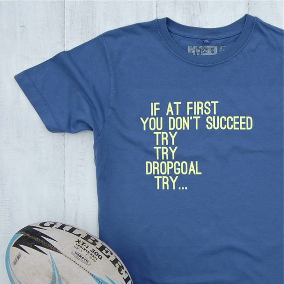 Rugby Try T-shirt - rugby t-shirt - rugby shirt - rugby tee - dad gift - gifts for him - mens t-shirts - sports tees - brother gift - tshirt ERm28Csg85