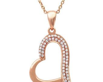 Heart Pendant ,Necklace Pendant, Designer 14K Gold Pendant, Fashion  Pendant Jewelry,  Gold diamond Pendant, Women Designer Jewelry