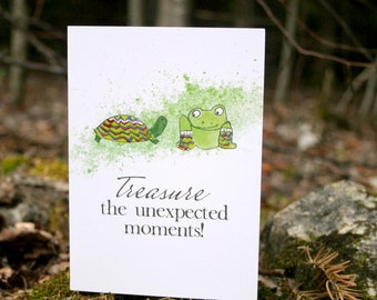 Treasure the Unexpected Moments Inspiring Greeting Card