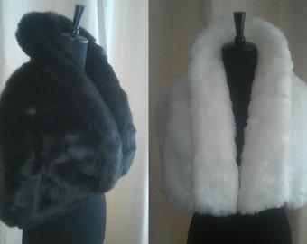 Luxurious Faux Fur Clutch Capelet Cover up