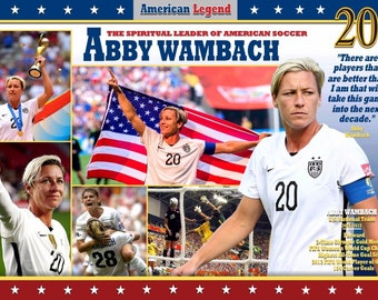 U.S. Women's Soccer & World Cup Star Abby Wambach Commemorative Poster