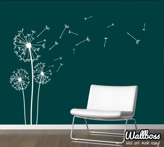 Dandelion Wall Decal   Wall Stickers Blowing Away In The Wind Vinyls Flower  Nature Living Room Bed Room Art
