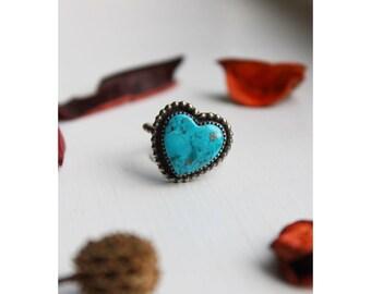 Kingman Turquoise Heart ring