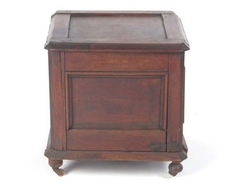 Antique Wood Commode Potty Chair Chamber Pot Toilet Portable Bedside Lift  Top