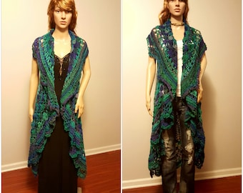 Summer Sweater,  Handmade Crochet Sweater, Summer Shawl, Stevie Nicks Shawl, Gothic Style, Elegant Sweater, Mother's Day Gift, Gifts for Her