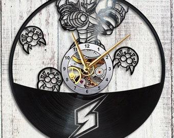 Metroid Samus Aran Vinyl Wall Clock