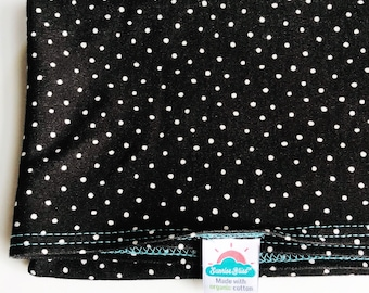 NEW!  black & white polka dot | organic cotton t-shirt hair towel
