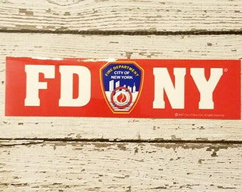 FDNY mini sized Bumper Sticker New York Fire Department shield OFFICIALLY LICENSED