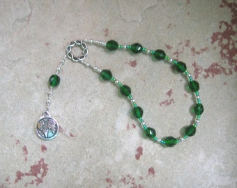 Gaia (Gaea) Mini Prayer Beads: Mother Earth, Mother of the Gods, Mother of All That Is