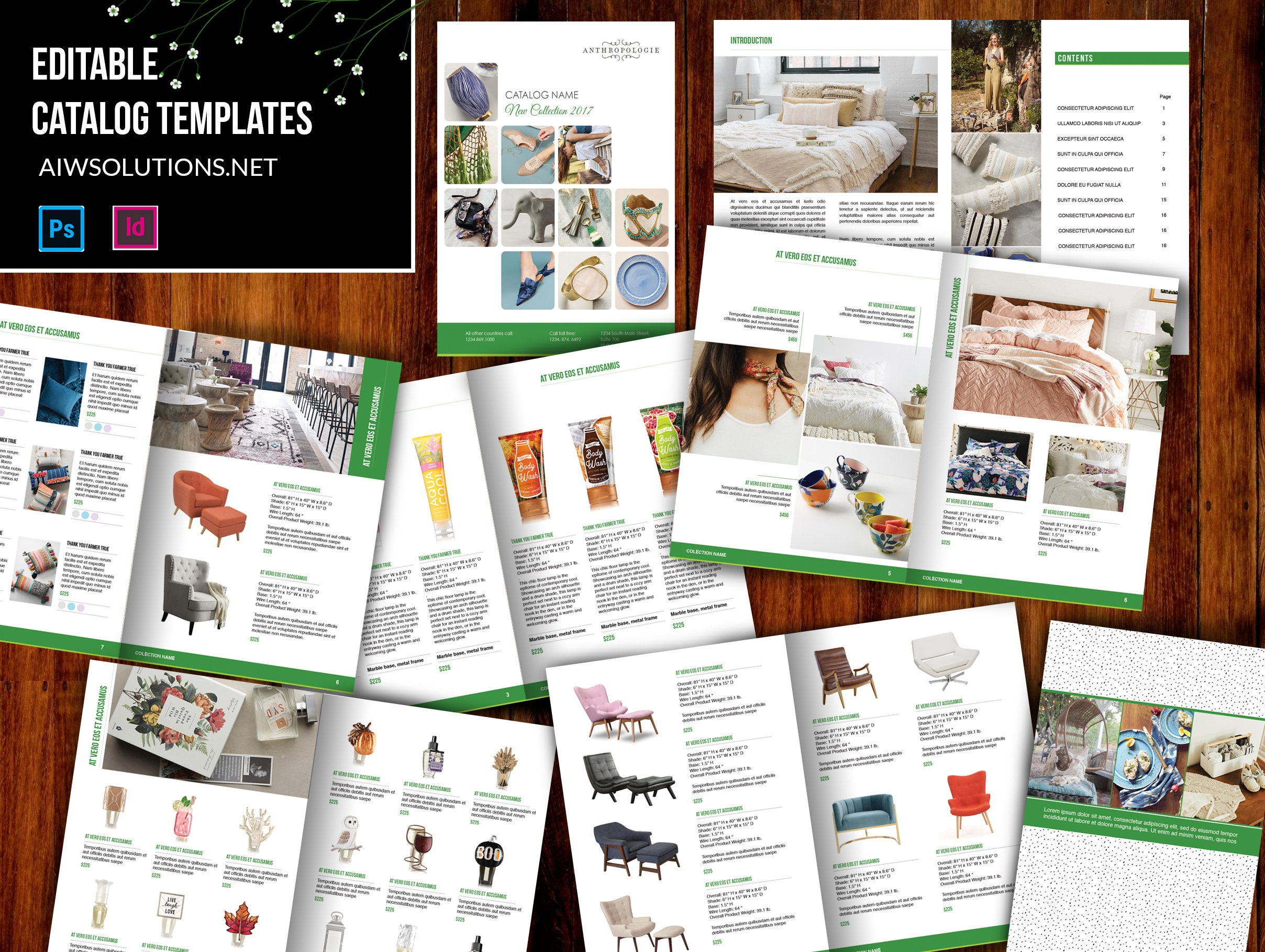 Produkt-Katalog Broschüre Kataloge Katalogvorlage INDESIGN