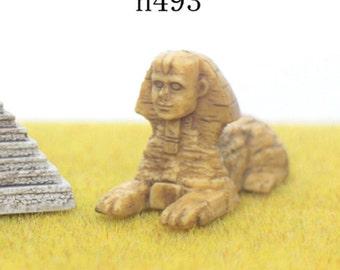 Miniature Egyptian Pyramid, Sphinx Egypt Landmark Buildings, for Dessert Terrarium, Mini Souvenir, Desktop Decor, Tiny Supplies