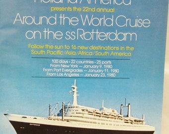 Around the World Cruise 22th January 9, 1980 New York ss Rotterdam