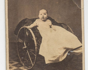 CDV of baby in carriage