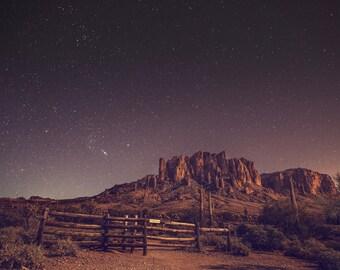 Stars - Starry Sky - Starry Night - Desert - Desert Photography - Starry Sky Photo - Digital Photography - Instant Download - Bedroom Decor
