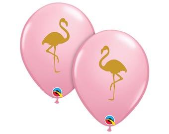 5 Flamingo Balloons - Flamingo Party Decor - Flamingo Birthday - Party Decorations - Palm Springs - Let's Flamingle - Bachelorette Party