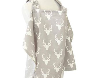 Woodlands | Gray and White Nursing Cover