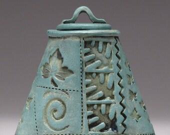 Petit récipient en céramique, à couvercle bocal, Home Decor, inspiré de la Nature, fait à la main, émaillée patine finition, unique en son genre