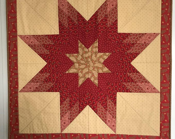 Quilted Loan Star Wall Hanging