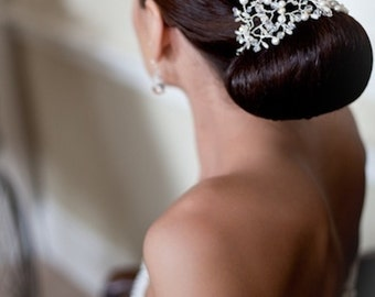 Pearl and Crystal Bridal Headpiece