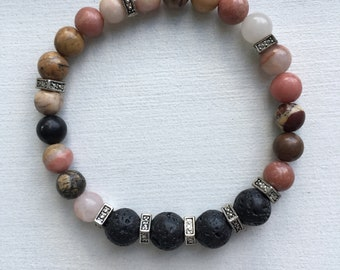 Rhodonite  Essential Oil Diffuser Bracelet