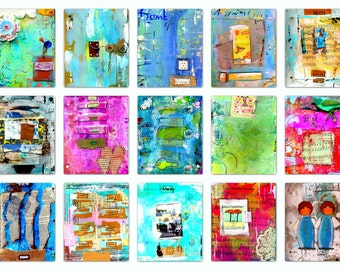 Downloadable Art, Collage Art, Digital Papers, Gifts for Women, Clip Art, Downloads, Grunge