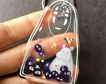 "2.5"" No Face Spirited Away Acrylic Keychain"
