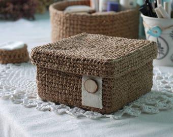 Crochet jewelry box Etsy