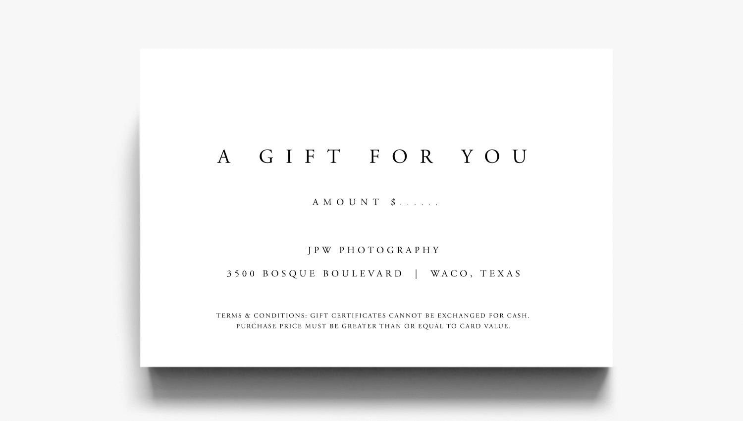 Gift certificate template a gift for you gift voucher for Gift certificate terms and conditions template