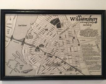 Williamsburg, Brooklyn -- a Vestige Map