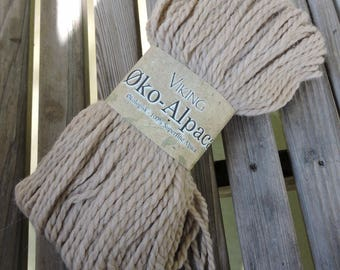 BULKY Weight Yarn -  Superfine Alpaca- Øko Alpaca by Viking of Norway - 100 g / 137 yards - Sand #407