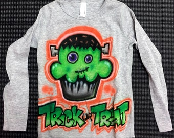 Sample SALE Long Sleeve Gray Thermal Trick Or Treat Shirt