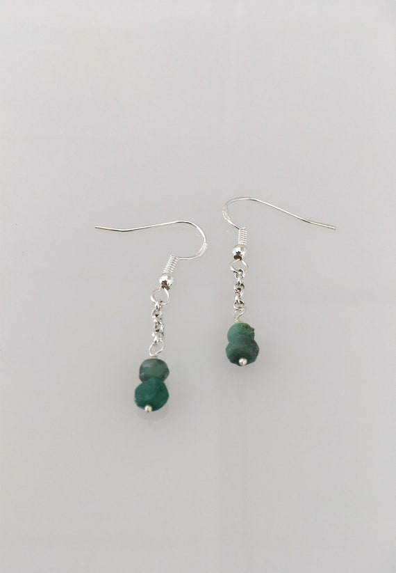 S - 652 Emerald drop earrings