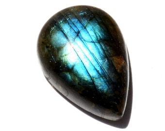 Labradorite Cabochon Stone (25mm x 18mm x 8mm) - Drop Cabochon - Teardrop Gemstone