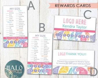 LLR REWARDS Cards - Business card, customer rewards, PAISLEY