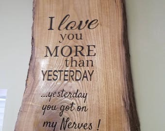 I Love You More Than Yesterday......