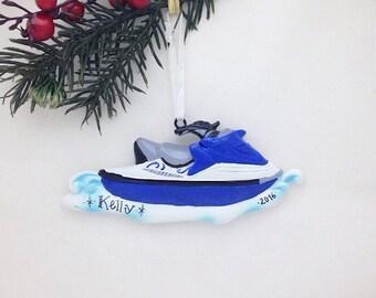 Jet Ski Ornament / Personalized Christmas Ornament / Travel Ornament / Water Lover Ornament