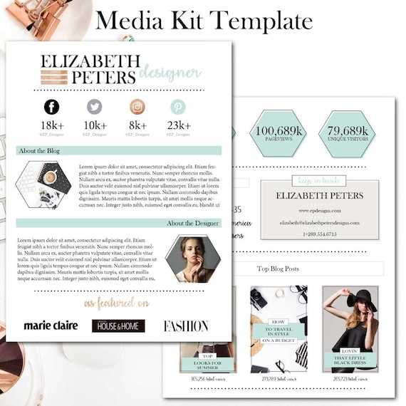 Media Kit Template from CCCreativeDesignCo on Etsy Studio