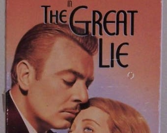 The Great Lie Betty Davis Black and White from 1941 VHS