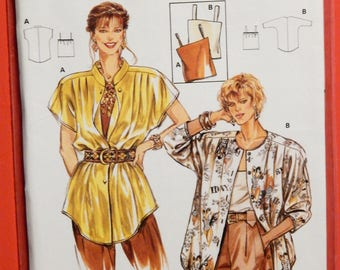 Burda 5077 Super easy blouse and top pattern Uncut Sizes 12, 14, 16, 18, 20, 22 and 24