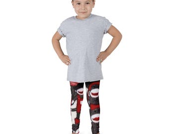 Red Sock Monkey Kid's leggings