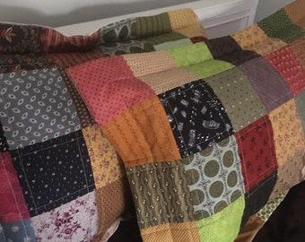Pillow shams, patchwork, farmhouse style
