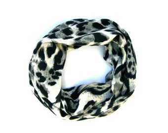 Leopard Scarf, Toddler Scarf, Baby Bib Scarf, Winter Scarf, Baby Girl Clothes, Children Clothing, Kid Scarf, Under 20 Dollars, Ready To Ship