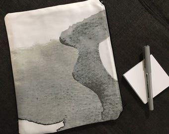 Black and White Modern Pouch