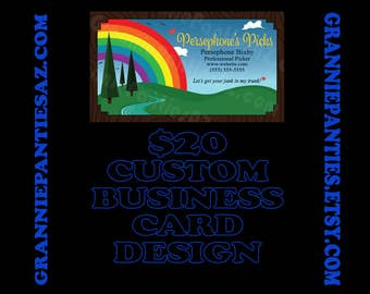 Custom Business Card Full Design 72hr turnaround w/ two revisions DIGITAL PDF & PNG files - vector art kitsch small business character artsy