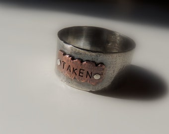 Mens Rustic Ring Band - Sterling Silver Ring - Personalized Wedding Ring - Gift For Him - Gift for Her - Jewelry