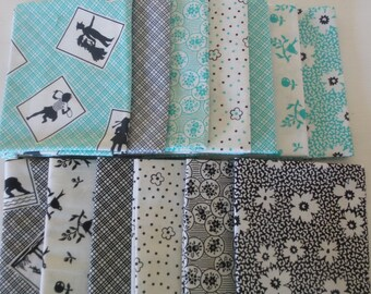 Playing With Shadows Fat Quarter Bundle + Panel by Darlene Zimmerman, for Robert Kaufman, cute shadow play pictures in 2 colorways!