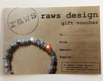 raws gift voucher