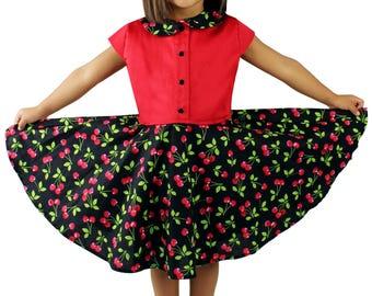 Girl's Cherry Dress