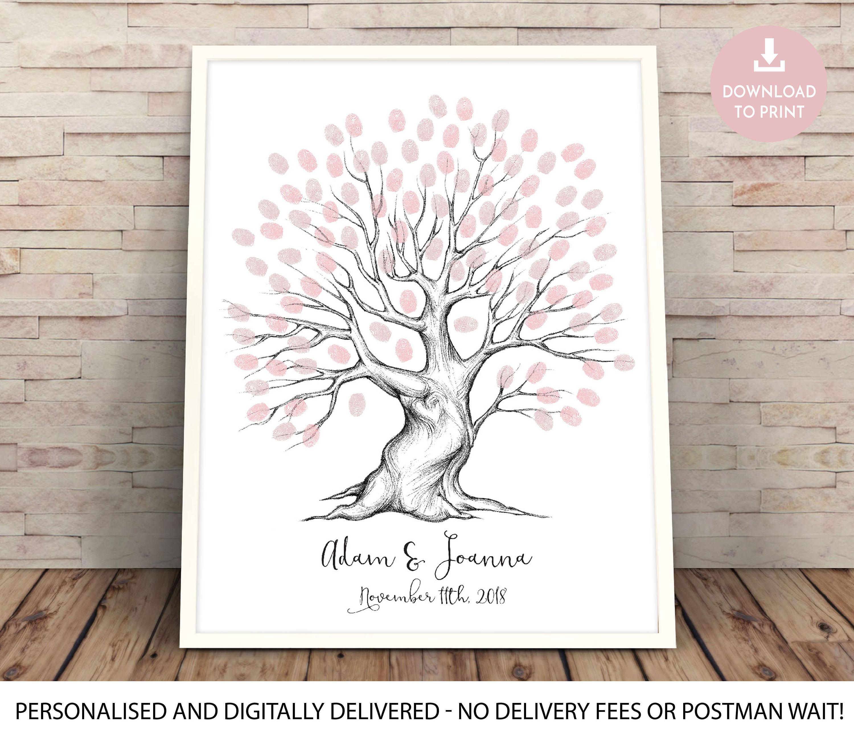 Alternative Wedding Guest Book Ideas: Alternative Wedding Guest Book Ideas Fingerprint Tree